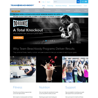 Shop Fitness Programs, Nutritional Products, Gear & Apparel - Team Beachbody US