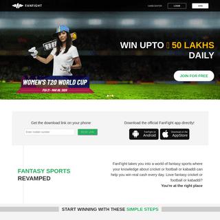 Fantasy Cricket - Play Online Fantasy Cricket Games & League in India - FanFight