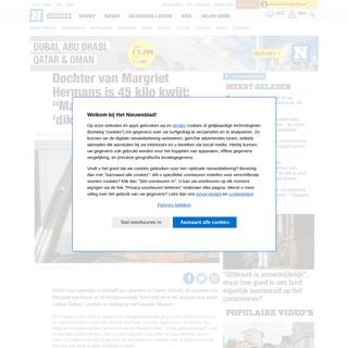 """ArchiveBay.com - www.nieuwsblad.be/cnt/dmf20200221_04858940 - Dochter van Margriet Hermans is 45 kilo kwijt- """"Maar in de s... - Het Nieuwsblad"""