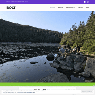 BOLT – BROWN OUTDOOR LEADERSHIP TRAINING