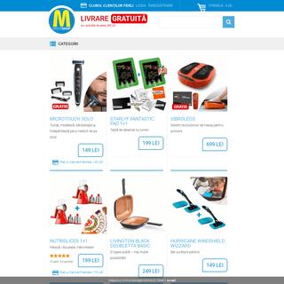 MediaShop România - Magazinul Online cunoscut pentru produsele originale prezentate la TV. Sute de produse inovatoare la un pre