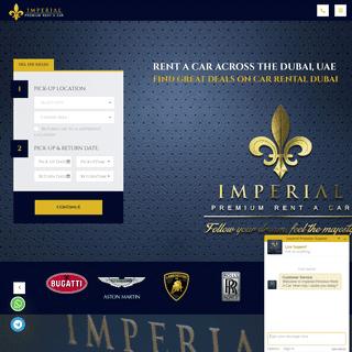 Luxury Car Rental Dubai, UAE - Imperial Premium Rent a Car