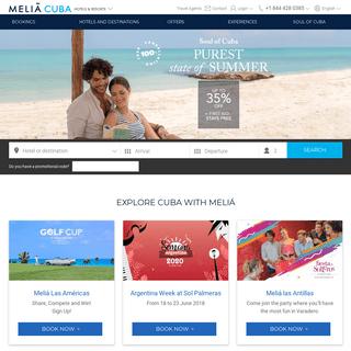 Cuba Hotels - Booking Cuba hotels - Meliá Cuba Hotels