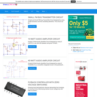 theoryCIRCUIT - Do It Yourself Electronics Projects - Find every electronics circuit diagram here, Categorized Electronic Circui