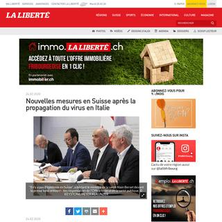 Nouvelles mesures en Suisse après la propagation du virus en Italie - La Liberté