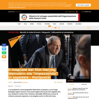 "Il magnate dei film Harvey Weinstein sta ""impazzendo"" in ospedale - Portavoce - Sputnik Italia"