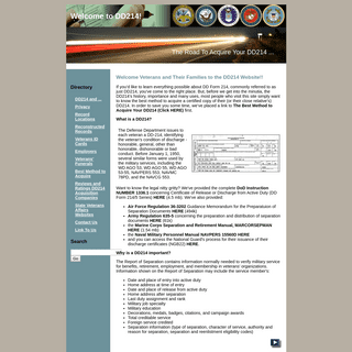 Welcome Veterans to the DD214 Website!