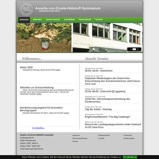 Annette-von-Droste-Hülshoff-Gymnasium- Startseite