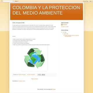 COLOMBIA Y LA PROTECCION DEL MEDIO AMBIENTE