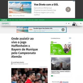 Onde assistir ao vivo o jogo Hoffenheim x Bayern de Munique pelo Campeonato Alemão - Metro Jornal