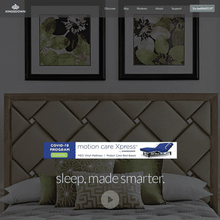 Kingsdown Luxury Mattresses - Smart technology, unprecedented quality, and handcrafted artistry for smarter sleep.