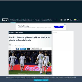 Partido, liderato y Hazard- el Real Madrid lo pierde todo en Valencia - Goal.com