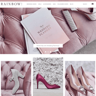 Wedding Shoes Bridal Shoes Wedding Veils Bridesmaid Shoes & Accessories - The Wedding Collection - Rainbow Club