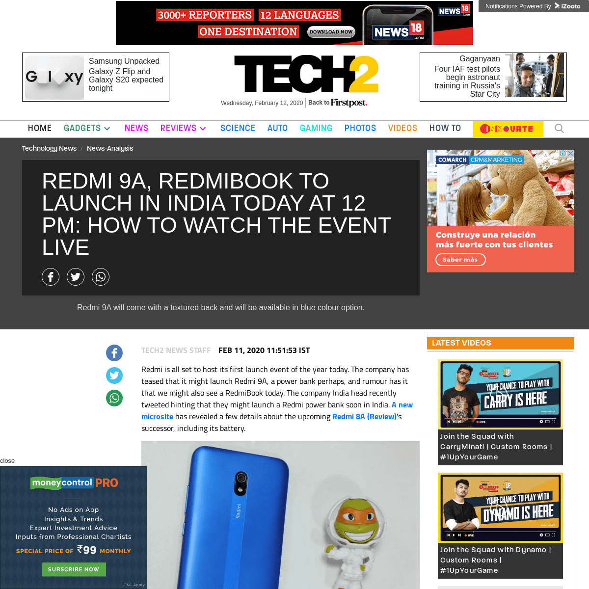 ArchiveBay.com - www.firstpost.com/tech/news-analysis/redmi-9a-redmibook-to-launch-in-india-today-at-12-pm-how-to-watch-the-event-live-8028671.html - Redmi 9A, RedmiBook to launch in India today at 12 pm- How to watch the event live- Technology News, Firstpost