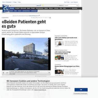 20 Minuten - «Beiden Patienten geht es gut» - News