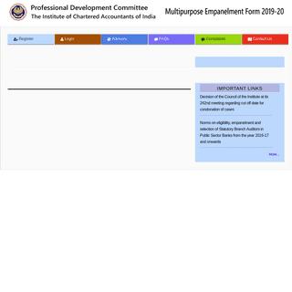Multipurpose Empanelment Form (MEF)