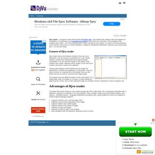 DJVu reader - official website.