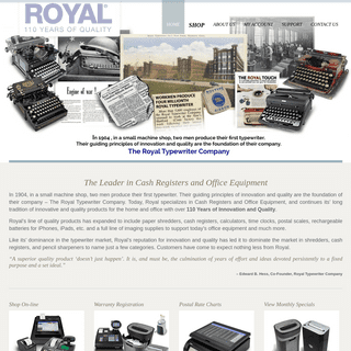 Cash Registers and Office Equipment - Royal Consumer Products