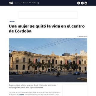 Una mujer se quitó la vida en el centro de Córdoba - Córdoba