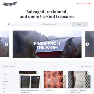 Salvaged, reclaimed, and one-of-a-kind treasures - DiggersList