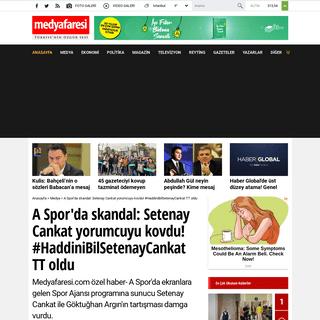 ArchiveBay.com - www.medyafaresi.com/haber/setenay-cankat-goktughan-argini-yayindan-kovdu/934300 - A Spor'da skandal- Setenay Cankat yorumcuyu kovdu! #HaddiniBilSetenayCankat TT oldu - MedyaFaresi.com