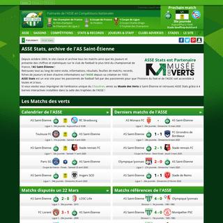 ASSE Stats - Statistiques et résultats de l'AS Saint-Étienne - Foot ASSE, Mercato ASSE