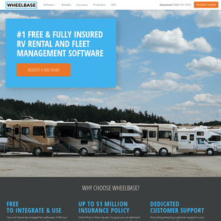 RV rental and RV fleet management software, free to use and includes on-demand rental insurance - Wheelbase