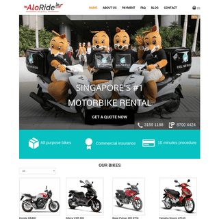 AloRide - Singapore Motorbike Rental