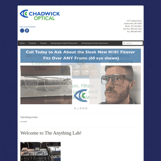 Chadwick Optical, Inc. Welcome to The Anything Lab! - Chadwick Optical, Inc.