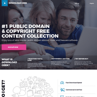Download Geek — #1 Public Domain & Copyright Free Content Collection