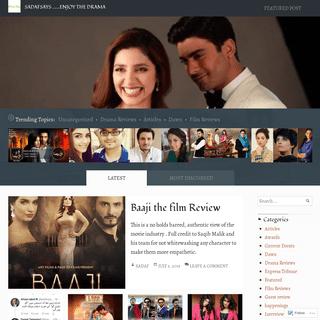 SadafSays …….Enjoy the Drama – An ongoing conversation about the Pakistani Entertainment scene