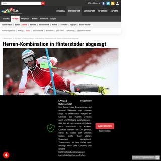 Ski Weltcup- Kombination der Herren in Hinterstoder abgesagt - LAOLA1.at