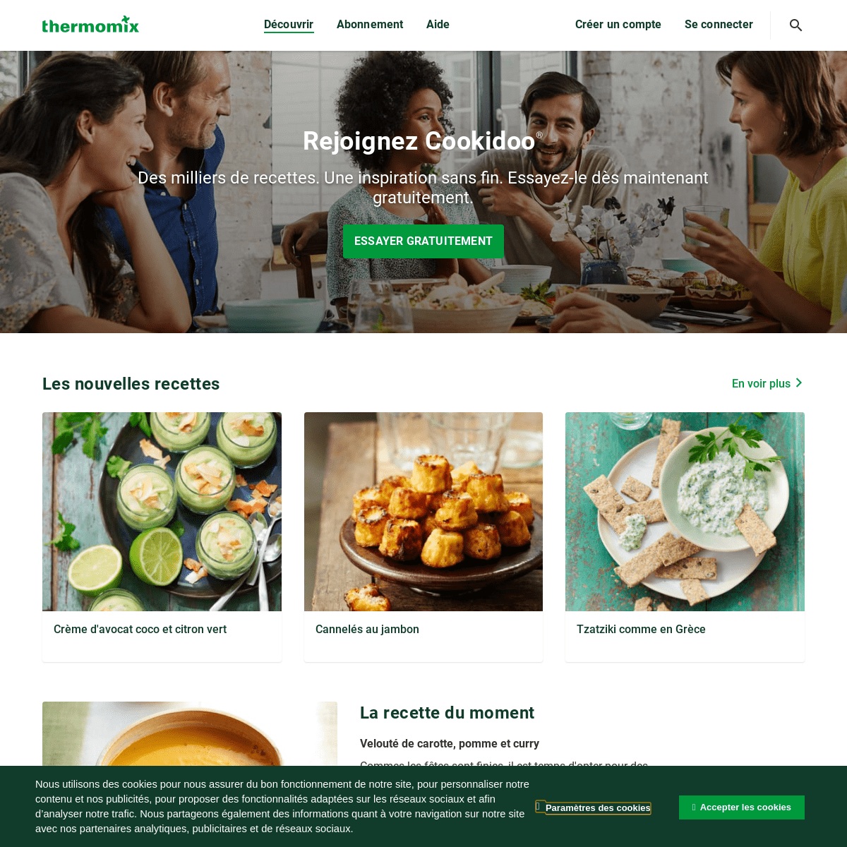Cookidoo® – la plateforme de recettes officielle de Thermomix®