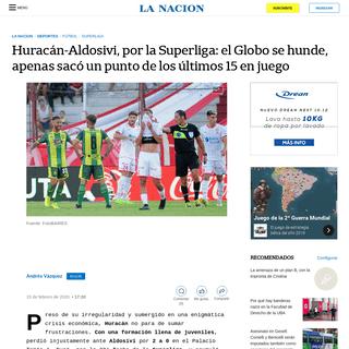 ArchiveBay.com - www.lanacion.com.ar/deportes/futbol/huracan-aldosivi-superliga-nid2333876 - Huracán-Aldosivi, por la Superliga- el Globo se hunde, apenas sacó un punto de los últimos 15 en juego - LA NACION