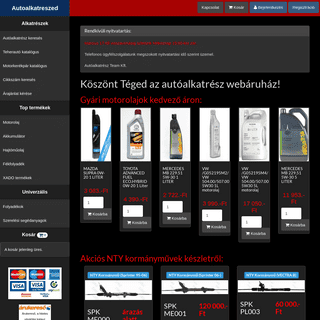 Autóalkatrészed.hu - Autóalkatrész Webáruház