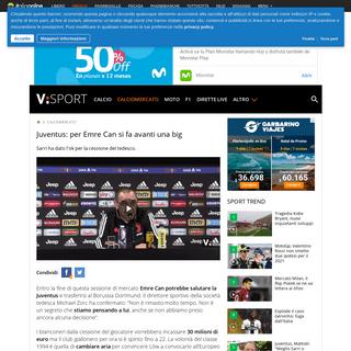 Juventus- per Emre Can si fa avanti una big - Virgilio Sport