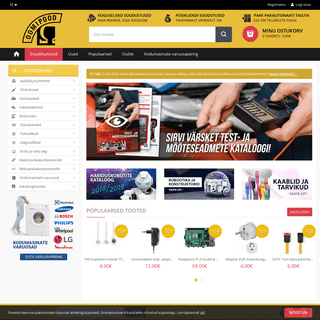 Oomipood - Elektroonikakomponentide, -seadmete, -tarvikute ja tööriistade jaemüük