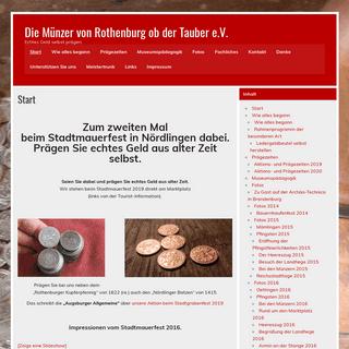 Die Münzer von Rothenburg ob der Tauber e.V. – Echtes Geld selbst prägen.
