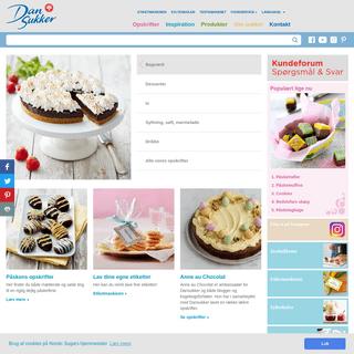Dansukker hjemmeside - få mere at vide om sukker, og find masser af opskrifter