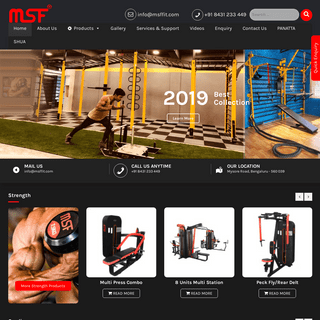 MSF Gym Equipment – -Fitness Made Personal- is a direct extension of MSF mission.