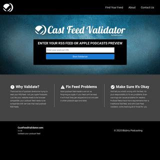 Cast Feed Validator