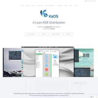 KaOS – A Lean KDE Distribution