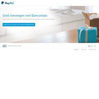 PayPal Opladen - Geld toevoegen met Bancontact