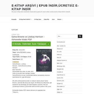 E-Kitap Arşivi - Epub indir,Ücretsiz E-Kitap İndir – Bir grup e-kitap dostu tarafından oluşturulmuş geniş bir arşive s