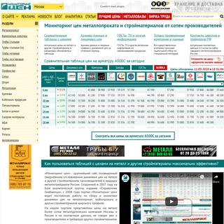 Мониторинг цен металлопроката и стройматериалов от сотен поставщико�