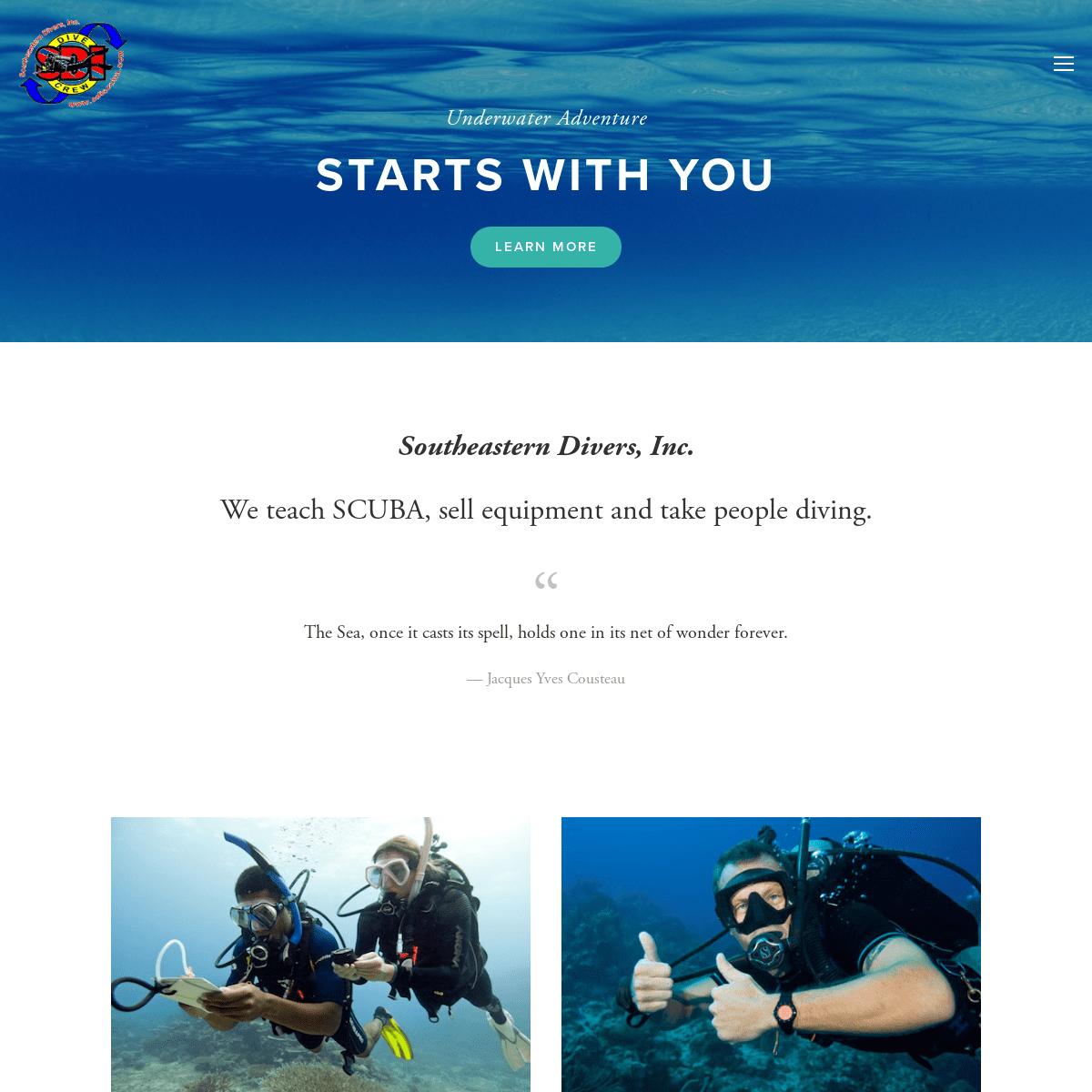 ArchiveBay.com - sdiscuba.com - Southeastern Divers, Inc.