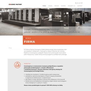 ArchiveBay.com - coloursfactory.pl - Colours Factory - Firma