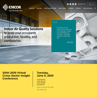 EMCOR Group, Inc. - Mechanical & Electrical Construction, Energy & Facilities Services, Sustainability & Green Build