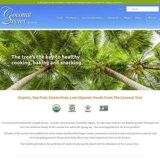 Organic, Soy-Free and Gluten-Free Alternatives - Coconut Secret