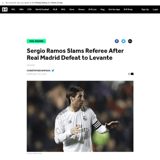 Sergio Ramos Slams Referee After Real Madrid Defeat to Levante - Bleacher Report - Latest News, Videos and Highlights
